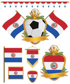 Paraguay flags — Stock Vector