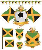 Banderas de jamaica — Vector de stock