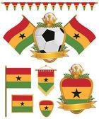 加纳国旗 — 图库矢量图片