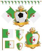 Algeria flags — Stock Vector