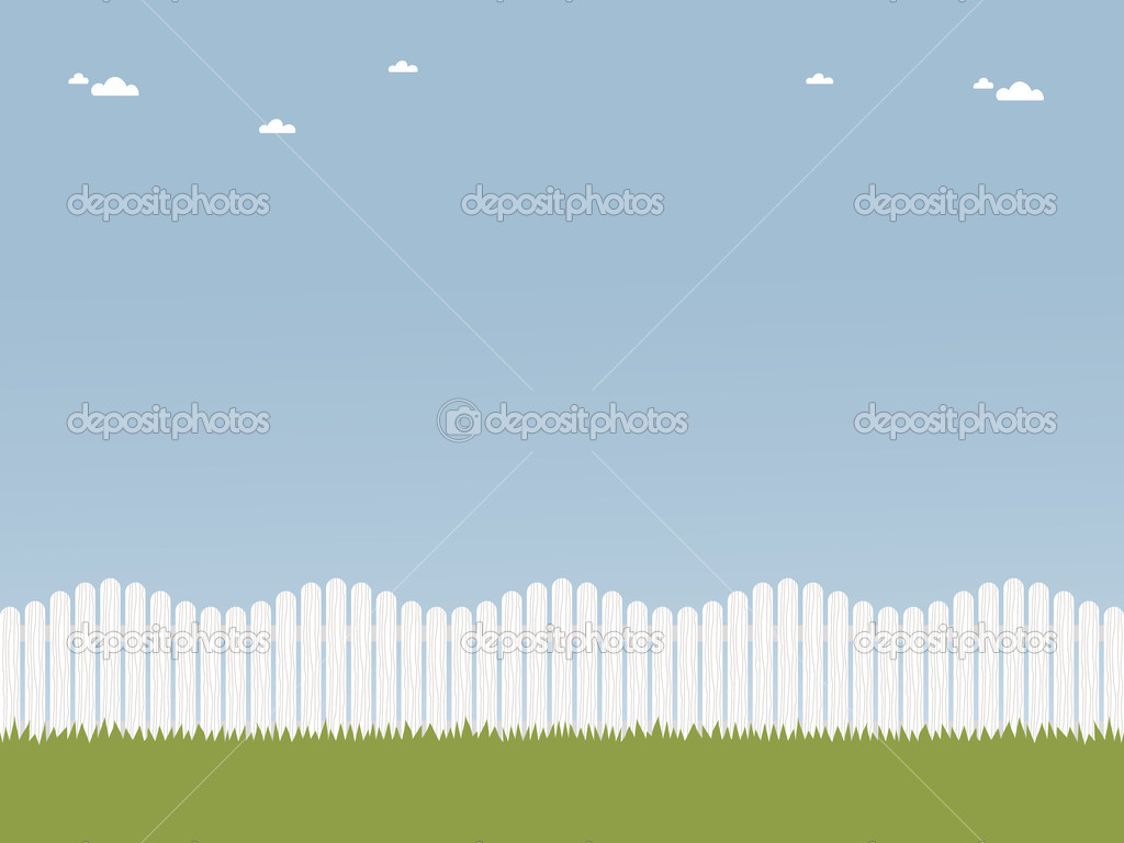 White picket fence — Stock Vector © mattasbestos #