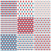 Harlequin patterns — Stock Vector