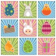 Easter icons — Stock Vector