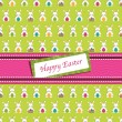 Stock Vector: Easter wrapping