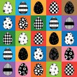 Easter egg pattern — Stock Vector