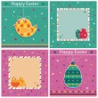 Easter cards - Image vectorielle