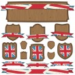 Uk plaques and ribbons — Stock Vector #23506131