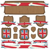 Uk plaques and ribbons — Stock Vector