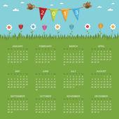 Kalender för 2013 — Stockvektor