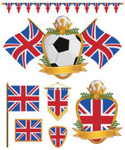 Great britain flags — Stock Vector