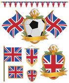 英国国旗 — 图库矢量图片