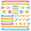 Ribbons and flags — Stock Vector