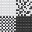 Vector de stock : Black and white patterns