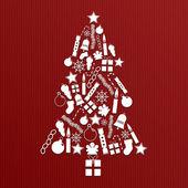 Noel ağacı süsle — Stok Vektör