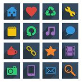 Media icons — Stock Vector