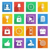 Bright media icons set 4 — Stock Vector