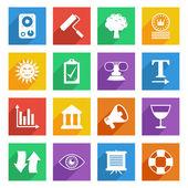 Bright media icons set 5 — Stock Vector