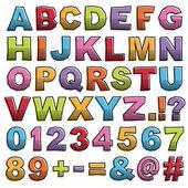 Half tone alphabet — Stock Vector