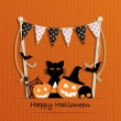Halloween Decoration — Stock Vector