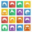 Bright kids icons — Stock Vector