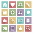 Soft media icons set 1 — Stock Vector