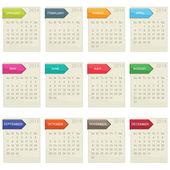 календарь для 2014 — Cтоковый вектор