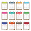 Calendar for 2014 — Stock Vector