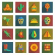 Stock Vector: Mexican icons