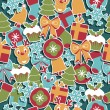 Vector de stock : Christmas pattern
