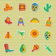 Mexican stickers — Stockvektor