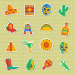 Mexican stickers — Vector de stock