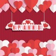 Valentine decoration — Vector de stock