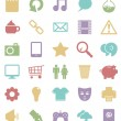 Media icons — Stock Vector #40621829