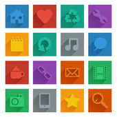 Square media icons set 1 — Stock Vector
