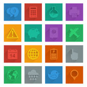 Square media icons set 3 — Stock Vector