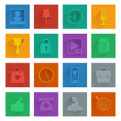 Square media icons set 4 — Stock Vector