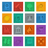 Square media icons set 5 — Stock Vector