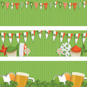 St patricks day banners — Stock Vector