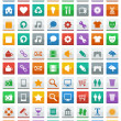 Communication media icons — Stock Vector