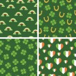 Stock Vector: Irish patterns