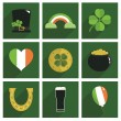 Irish decorations — Stock Vector