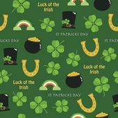 St patricks day pattern — Stock Vector