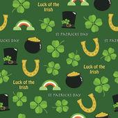 St patricks day pattern — Stock Vector