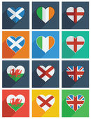 British isles icons — Stock Vector