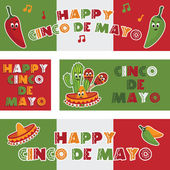 Mexican banners — Stockvector
