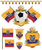 厄瓜多尔国旗 — 图库矢量图片