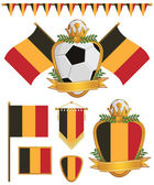 Belgium flags — Stock Vector