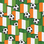 Ivory coast football pattern — Stock Vector