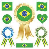 Brazil flags — Stock Vector