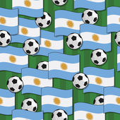 Argentina football pattern — Vecteur